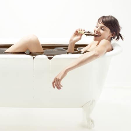 chocolate na banheira