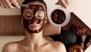 chocolate para o rosto