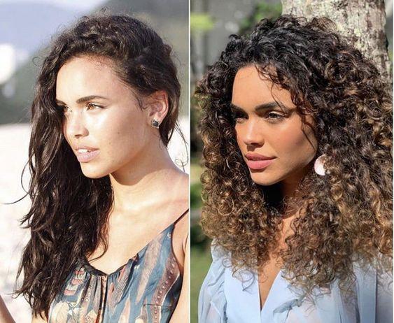 Processo de transição capilar da atriz Giovana Cordeiro
