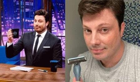Danilo Gentili, apresentador, também fez a barba.