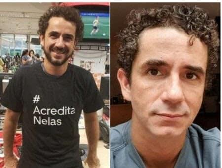 Felipe Andreolli, jornalista, também mudou o visual.